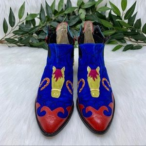 Zalo Shoes - ***SOLD****Zalo Vintage WesternRodeo Ankle Boot 9